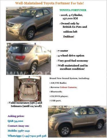2006 Toyota Fortuner 2.7